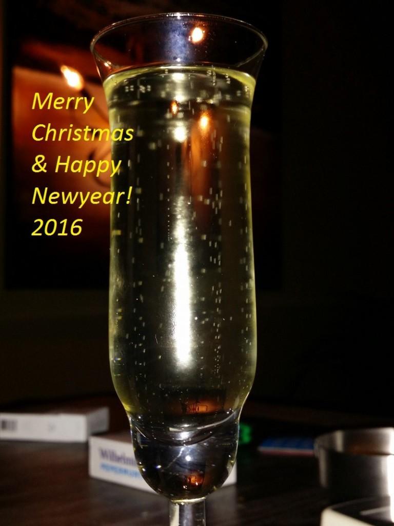 Glas met bubbels nieuwjaarwensen