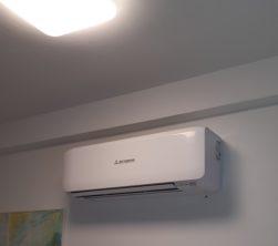 Airconditioning slaapkamer.